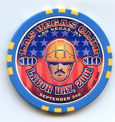 Las Vegas Club Casino Labor Day $10 Chip