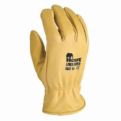 Leather Trucker hide-lined drivers gloves warehouse workers