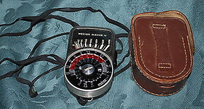 Vintage Weston Master IV Universal Exposure Meter Model 745 with Leather case