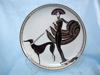 House of Erte Symphony In Black Plate Franklin Mint Limited Edition