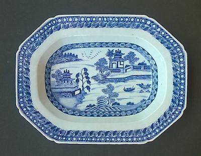Fabulous Chinese Export Blue & White Platter - Large - 19Th Century- Very Nice!