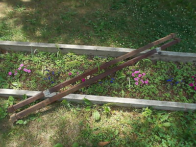Set of Two  Antique Tapered Pin Bed Rails For Your Vintage Old Beds