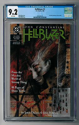 Hellblazer # 1 CGC 9.2 NM- White Pages 1988 1st issue of John Constantine series