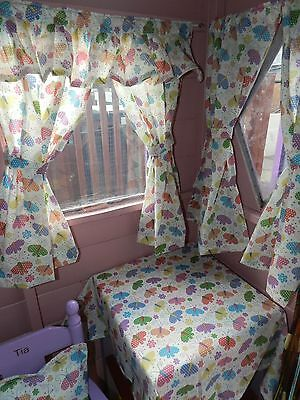 butterflys playhouse, den, wendy house, curtains many sizes available
