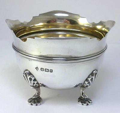 Victorian hallmarked Sterling Silver Sugar Bowl–1898 by Martin, Hall & Co (135g)