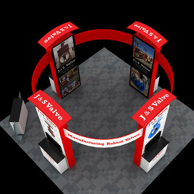 20ft Custom Portable Exhibition Trade Show Display Pop Up Stand Booth