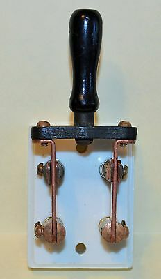 2 Pole Mesco 15 Amp Knife Switch - Antique?