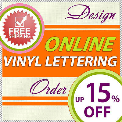 Vinyl Lettering Decals, Adhesive Letters, Stickers for Car, Boat, Wall, Window