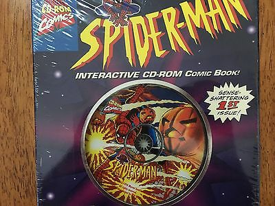 1995 Vintage SEALED MARVEL COMICS SPIDER-MAN INTERACTIVE CD-ROM COMIC BOOK