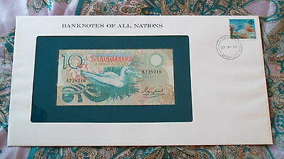 Banknotes of all Nations Seychelles 1979 10 Rupees P23a UNC prefix A