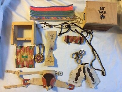 Lot of  Breyer / Horse Saddle Bridles Tack Canteen Blankets Chaps Hobbles