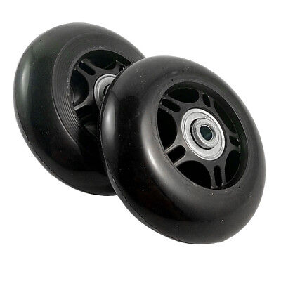 2 Set Luggage Suitcase Replacement Wheels OD 80mm O3A6