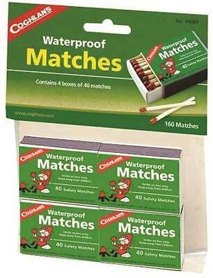 3 Packs Of 4(40 Count) Coghlans Waterproof Matches 640 Matches Fire Starter Camp