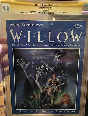 Marvel Graphic Novel #36 CGC SS 9.8 signed by Val Kilmer.   Willow Adaptation