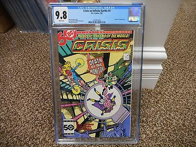 Crisis on Infinite Earths 4 cgc 9.8 Death of Monitor Perez cover DC 1985 MINT