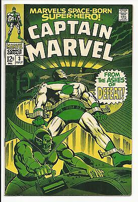 Captain Marvel # 3 (Marvel's Space-Born Super-Hero!, July 1968), Vf-