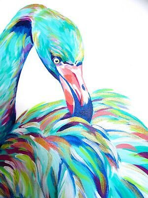 Modern Abstract Beautiful Birds Art Watercolour Canvas Painting wall choose size