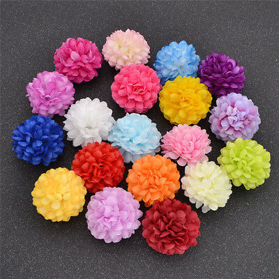 Pack of 20/100 DIY Decoration Flowers Colored Artificial Flower Fake Daisy Silk