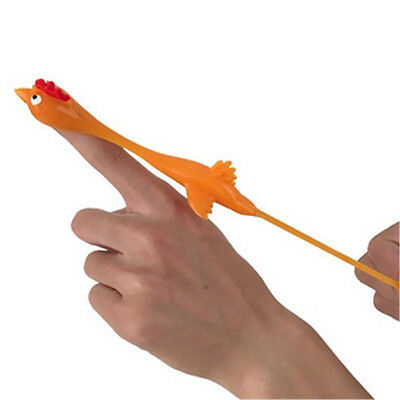 Funny Stretching Ejection Birds Catapult Slingshot Chicken Rubber Tricky Gag Toy