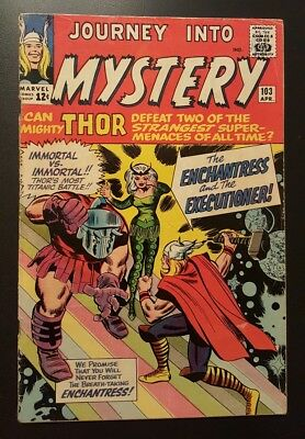 Journey into Mystery #103 - 1st Enchantress/Executioner (Apr 1964, Marvel) - VG