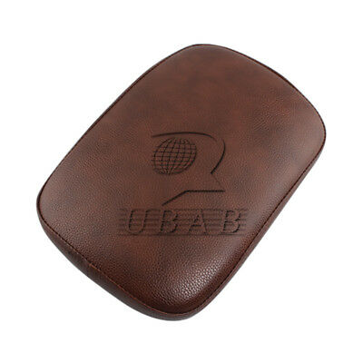 Brown Rear Passenger Pillion Pad Seat 8 Suction Cup For Harley Cruiser Chopper