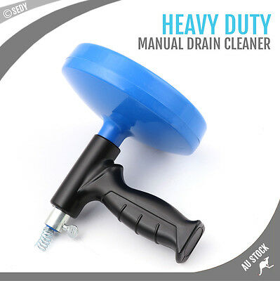 Sink Pipe Drain Block Cleaner Unblocker Auger Unblock Plunger Snake Cable Coil