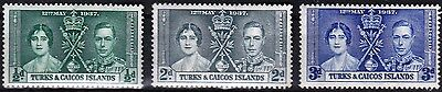 Vt2A Turks & Caicos Islands #75-77 Stamps M Og H  Buy 4-40 Stamp Lots-Pay $3 S&h