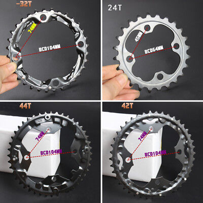 Bicycle Chain Ring BCD 64mm 104mm 32T 44T 42T Chainring Replacement repair Part