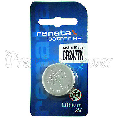 1 x Renata Lithium CR2477N battery 3V DL2477N BR2477N Coin cell EXP:2024