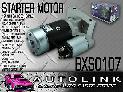 Oex Bxs0107 Starter Motor Suit Holden V8 253 308 Hitachi Style Gear Reduction