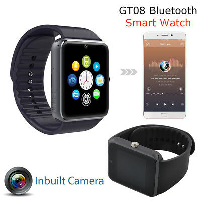 GT08 Touch Screen Bluetooth Smart Watch Phone Mate For Android IOS iPhone local
