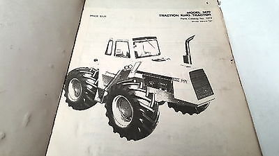 1972 CASE 2470 TRACTION KING TRACTOR Factory Parts Book