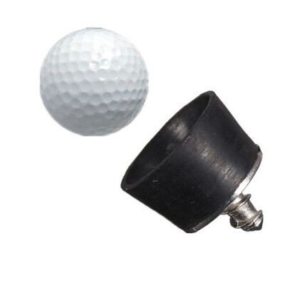Black Rubber Golf Ball Tee Pickup Suction Cup Pick-up Retriever Putter Grip Tool