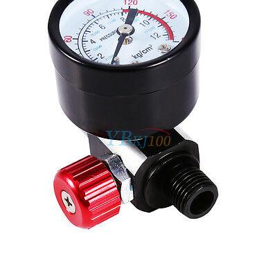 1/4'' BSP Spray Gun Air Regulator 1pc having Pressure Gauge Diaphragm Conduct