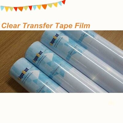 """1 Roll 24"""" x 11 yards Clear Transfer Tape Film for Vinyl Graphics Application"""