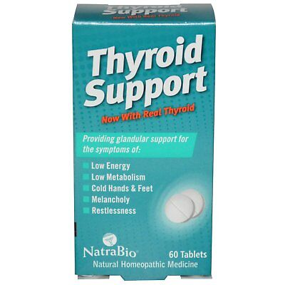 NatraBio - Thyroid Support / 60 Tablets / Support thyroid functionality.