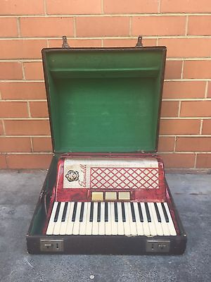 Vintage/Antique Scandalli Piano Accordion L 454/48, Original Case & Straps, GWC
