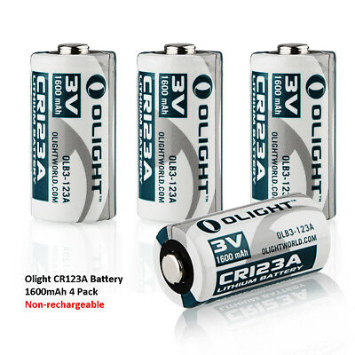 Olight CR123A 3V 1600mAh High Performance Lithium Battery Standard Battery 4 pcs