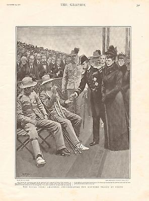1901 Antique Print - Boer War-Royal Tour-Wounded Soldiers At Perth