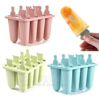 8 Cell DIY Freezer Lolly Ice Cream Maker Mold Mould Cake Popsicle Yogurt Icebox