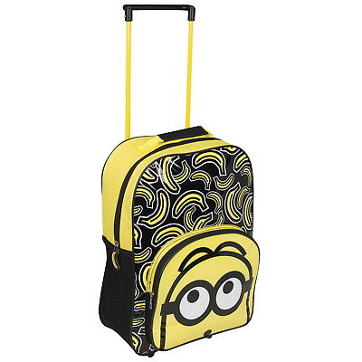 NEW OFFICIAL Despicable Me 3 Minions Kids Luggage Travel Trolley Wheeled Bag