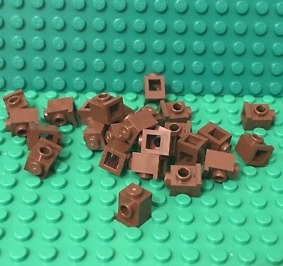 Lego X25 Pieces New Reddish Brown Bar 6L With Stop Ring Bulk Parts Lot