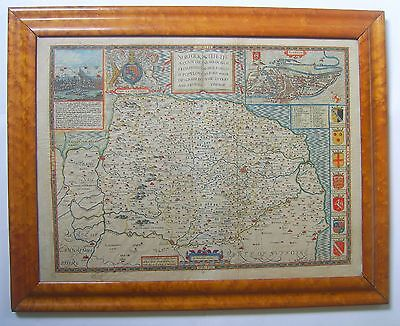 Norfolk: antique map by John Speed, 1611 (1627 edition)