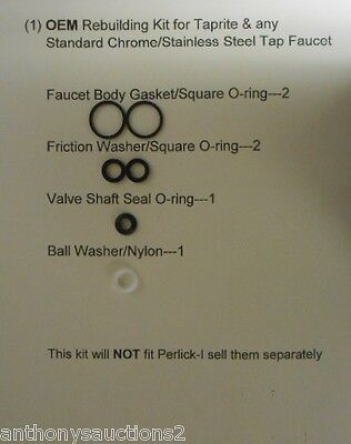 (1) Taprite Beer Faucet Rebuilding Kit, Taprite O-ring/Washers,Homebrew, Beer