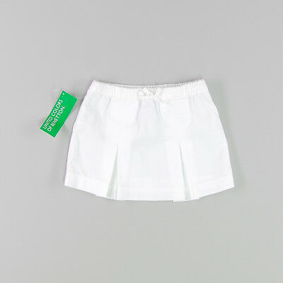 Falda color Blanco marca Benetton 9 Meses