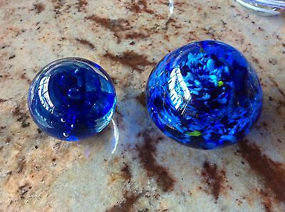 2 Art Glass Paperweights