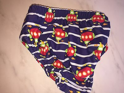 swim trunks nappy up to 12 months medium mothercare blue pattern new