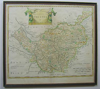 Cheshire: antique map by Robert Morden, 1695 (1722 edition)