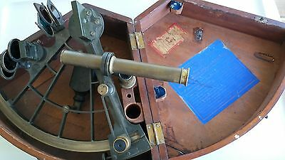 Antique Spencer Browning & Co  Sextant With Mahogeny Case