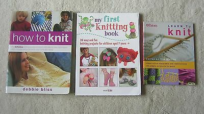 Learn How To Knit/my First Knitting Collection Three Books